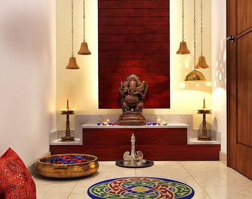 11 pooja room designs for small apartments (1). The small puja _ mandir _ temple designs comprise wall mounted units, shelf ideas and standalone cabinets (1)